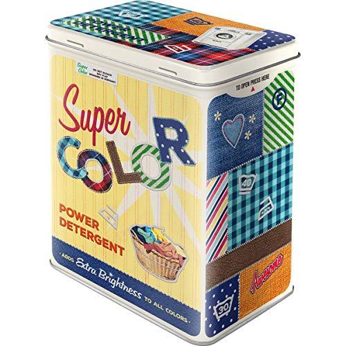Nostalgic-Art Retro Vorratsdose L Super Color Detergent – Geschenk-Idee für Nostalgie-Fans, Große Blech-Dose für Waschpulver, Vintage Design, 3 l