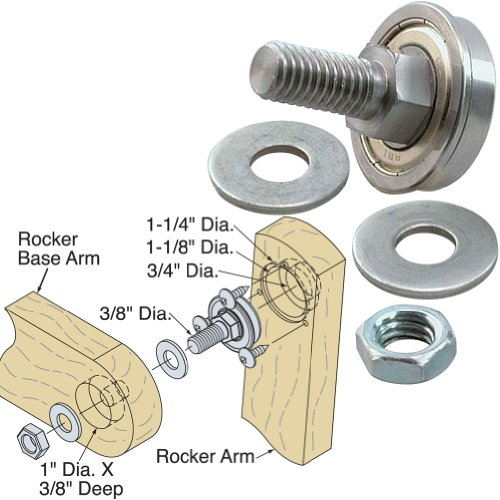 "Platte River 124094,""Hardware, Furniture, Miscellaneous"", Glider/Rocker Bearing Assembly Only"