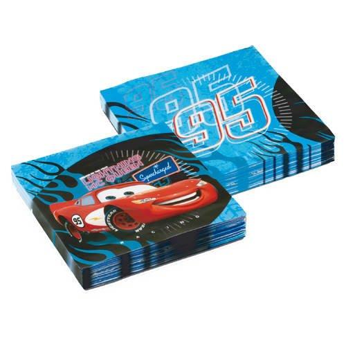 Partner Jouet - DYB551175 - Décoration de fête - Accessoire de table - 20 Serviettes - 3 Pli. Cars - 33 x 33 cm