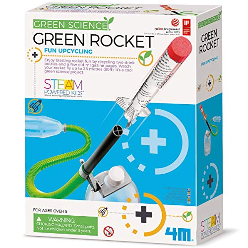 4M Green Science Rocket Kit - STEM Toys DIY Physics Science Experiment Launch Educational Gift, Brown/a (4630)