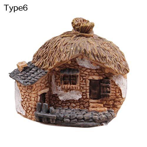 Mini Fée Jardin Miniature Maison Clôture Artisanat DIY Micro Paysage Décor Cadeau Type6 Durable et Utile