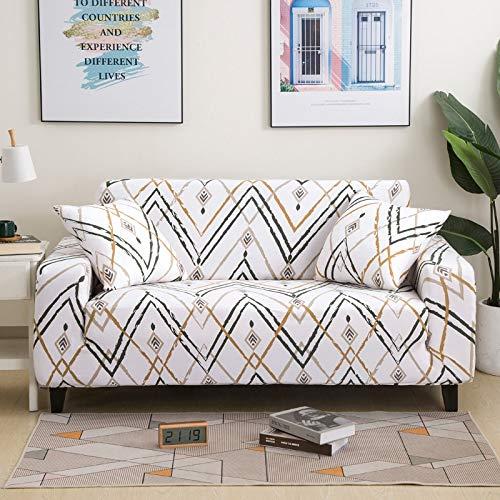 Funda de sofá elástica elástica con Estampado Floral, Toalla de sofá de algodón, Fundas de sofá Antideslizantes para Sala de Estar A16, 1 Plaza