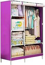HN Wardrobe, Cloth Wardrobe Assembly Cloth Wardrobe Simple Wardrobe Reinforcement Combination Steel Frame Storage Wardrobe...