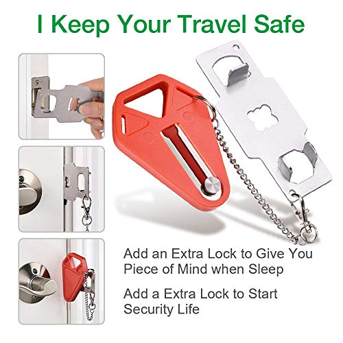 51NgXlS2j3L - Portable Door Lock,Travel Lock, Add Extra Locks for Additional Safety and Privacy, Solid Heavy Duty Lock Prevent Unauthorized Entry, Perfect for Traveling, AirBNB, Hotel, Home,Apartment (1)