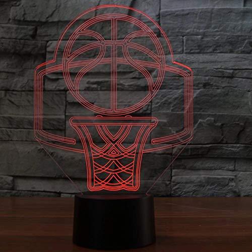 Modelo de soporte de baloncesto LED 3D Luz de noche Decoración de interiores Luz de noche creativa Anime Fan Regalo Regalo de vacaciones Decoración Lámpara de mesa