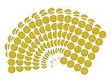 Wandtattoo Punkte Gold,15 Blatt 32mm Goldene Dots Wandaufkleber Wandsticker Wand Deko Aufkleber fur Babyzimmer Kinderzimmer Kindergarten und Mädchen Schlafzimmer