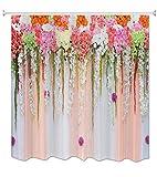 A.Monamour Hochzeit Haus Dekoration Bunte Blumen Blumen Druck Kunst Design Wasserdicht Mehltau Resistent Stoff Polyester Duschvorhang Für Bad 180X200 cm / 72