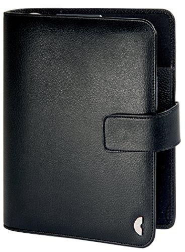 Chronoplan 50108 nachfüllbarer Terminplaner / Organizer / Terminkalender Mappe aus Kunstleder (Format Midi (150 x 190 mm) mit Lasche, Ringbuch, ohne Kalendarium) schwarz