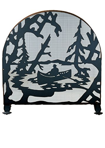 Check Out This Canoe at Lake Arched 1 Panel Fireplace Screen