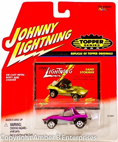 2001 - Playing Mantis - Johnny Lightning - K-B Toys Exclusive - The Lost Toppers - Commuter - lila - 1 64 Scale Die Cast - w  1971 Concept Drawing Collector Card - Out of Production - New - Rare - Collectible by Johnny Lightning