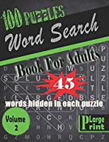 Word Search Book for Adults: 100 fun and challenging Word Search Puzzles - Large Print Edition - Volume 2
