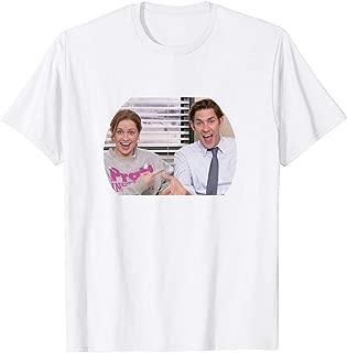 Jim and Pam The Office Tv Show John Krasinski Jenna Fischer Actor Movie Gifts Funny Mens Womens Girls Unisex T-Shirt