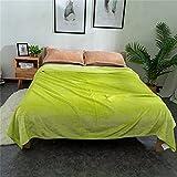 VBHT Manta De Franela Manta De Descanso Manta De Impresión Manta De Aire Acondicionado Verde EI 180 * 200cm