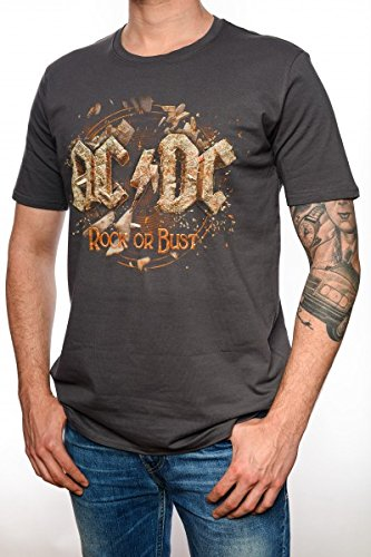 AC/DC Tour Rock or Bust T-Shirt Homme XL gris