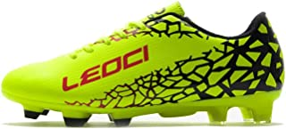 LEOCI Soccer Shoes - Athletic Football Shoes for Men and Boy Outdoor Soccer Shoes
