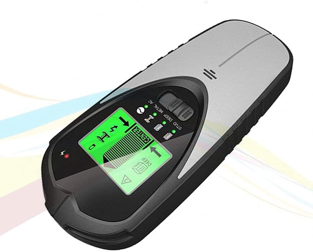 Stud Finder Wall Scanner 4 in 1Stud Detector with Intelligent Microprocessor Chip, HD LCD Display and Audio Alarm, Accurate and Fast Location for The Center and Edge of Metal, Studs, AC Wire (Renewed)