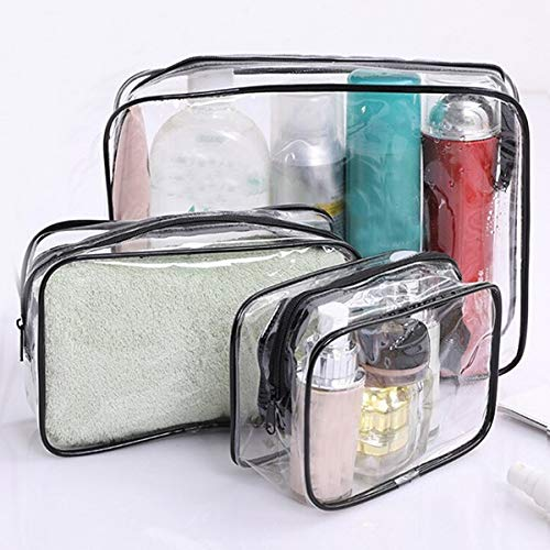 Cosmetic Storage Box Sac transparent cosmétiques Voyage femmes Zipper claires maquillage Sacs Beauty Case Make Up Organisateur de stockage bain de toilette Trousse de toilette Rotating...