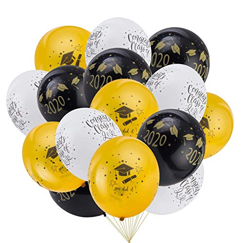 Buy Discount 2020 Graduation Party Latex Balloons, Class of 2020 Party Decoration -pack of 20, gradu...