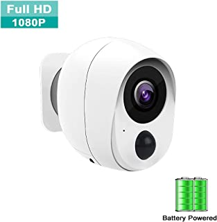 AZALMU Wireless Security Camera 1080P Wifi Security camera Rechargeable Battery Powered Security Camera IP Camera for Home