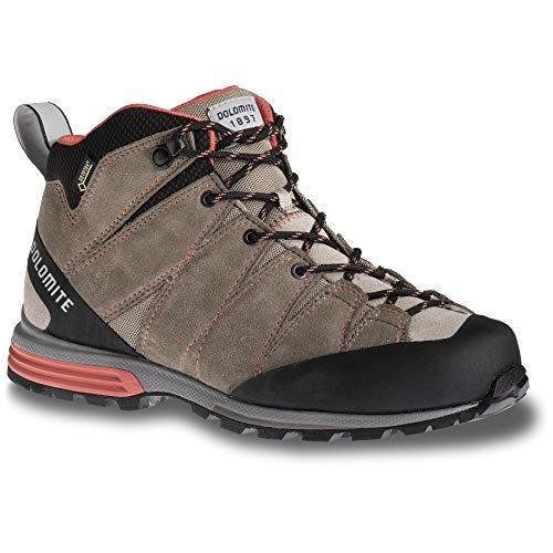 Dolomite Damen Wanderschuhe Diagonal Pro Mid GTX Wmn Mud Grey/Coral Red 5.5 UK