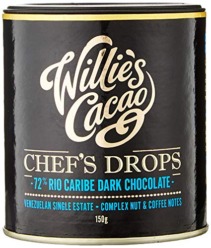 Willie's Cacao Venezuelan Chefs Drops (150G) Coffee & Nut Notes Gluten Free A...