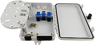 Tivollyff Caja de distribución de Fibra de 6 núcleos Caja de distribución de Fibra óptica montada en la Pared Caja de Fibr...