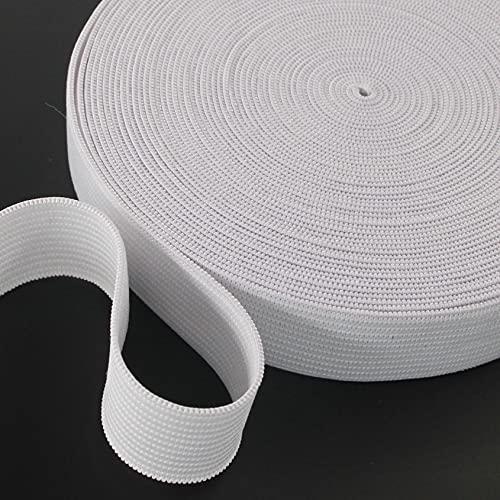 1 inch Elastic Band by The Yards 2.5cm White Knit Braided Elastic Belt 10 Yard Roll Elastic Spool for Wigs, Underwear, Pants, Sportswear, Skirts, DIY Manual Handmade Projects Leekayer