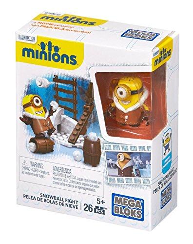 Minions - Batalla de Bolas de Nieve , Juego de construcción (Mattel CNF48)