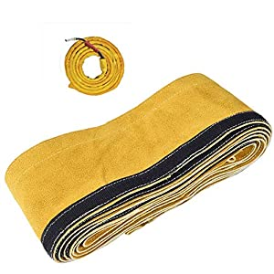 "TOOLTOO TIG Welding Torch Cable Cover - Flame Resistant Leather Kevlar Stitched 137""x 3.9"" (11.5 Feet Length)) from TOOLTOO"