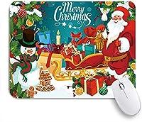 NIESIKKLAマウスパッド 新年サンタクロース雪だるまパインツリージンジャーブレッドマンクリスマスギフト ゲーミング オフィス最適 高級感 おしゃれ 防水 耐久性が良い 滑り止めゴム底 ゲーミングなど適用 用ノートブックコンピュータマウスマット
