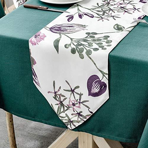 YXN stof rechthoekige tafelloper, dikke antislip decoratieve tafelvlag, geschikt voor eettafel, tv-kast, salontafel (kleur : D, Maat : 30X240CM)