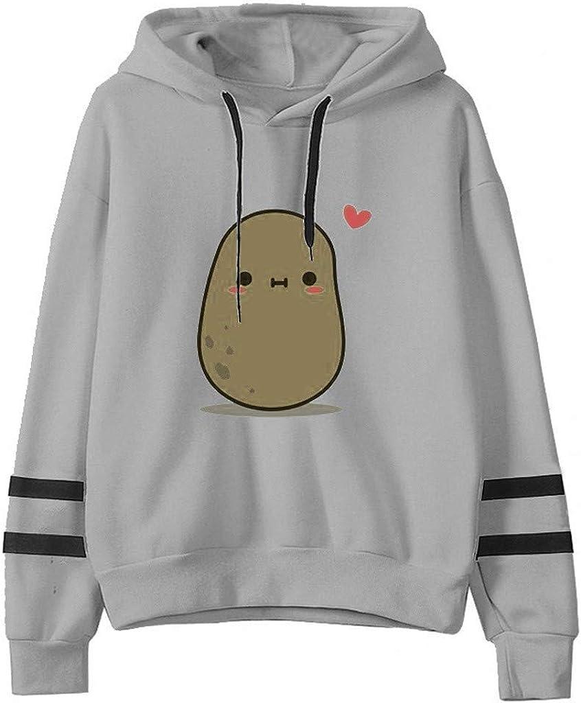 FABIURT Hoodies for Women Teen Girls Cute Graphic Printed Long Sleeve Drawstring Hooded Sweatshirt Casual Pullover Tops