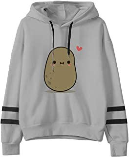 Women Hoodies Pullover Coat, Ladies Cute Cartoon Printed Long Sleeve Sweatshirt T-shirt Tops