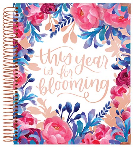 """bloom daily planners 2020 Hardcover Calendar Year Goal & Vision Planner (January 2020 - December 2020) - Monthly/Weekly Column View Agenda Organizer - 7.5"""" x 9"""" - This Year is for Blooming"""