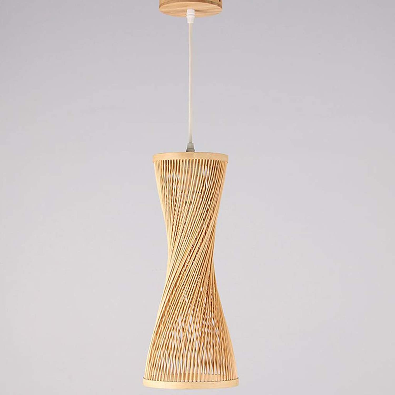 ZHAOHUIYING Lustre en Bambou De Style Jardin Postmoderne Petit Lustre LED en Bambou