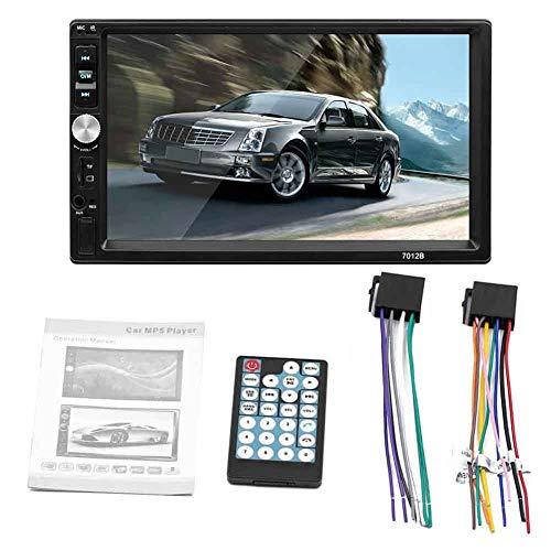 Clenp Lettore per Auto, 7012B 1080P HD Autoradio da 7 Pollici Stereo Bluetooth MP4 MP5 Touchscreen per Lettore USB Un Colore 1
