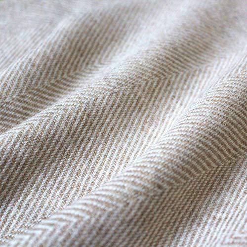 Lorenzo cana manta de lana de 100% cachemira–Colcha,–Manta de sofá o manta–Exquise y saco en Ecru Blanco