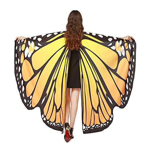 VEMOW Heißer Verkauf Damen Cosplay Party 168 * 135 CM Schmetterlingsflügel Schal Schals Damen...
