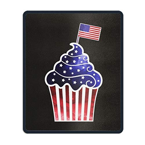Mouse Pad UniqueAmerican Cupcake Printed Mousepad Non-Slip Rubber 8.66 x 7.08 inch