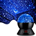 MOKOQI Star Projector Night Lights for Kids With Timer, Gifts for 1 - 14 Year Old Girl and Boy, Room Lights for Kids Glow in The Dark Stars and Moon can Make Child Sleep Peacefully and Best Gift-Black