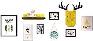 Ouqian Marco del Collage Marco de la Pared de Fotos Conjunto de Fotos Creativas de la Pared Marco Colgante Simple Marco de...