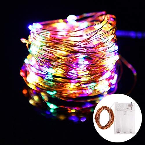 Wasserdichte Kupferdraht Feengirlande Familie Weihnachtsfeier Dekoration LED Lichterkette A4 5m50 LEDs USB