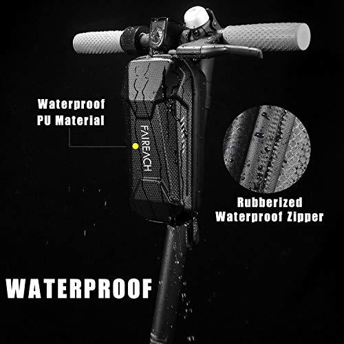 Scooter Tasche für Roller, Faireach Rollertasche Front Tube Bag Groß Lenkertasche Wasserfest, Vordertasche für Elektroroller Xiaomi MI Mijia M365 Sedway NinebotE ES1/ES2/ES3/ES4 - 2