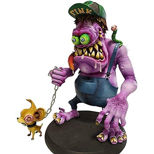 ABCDJHH Halloween Angry Big Mouth Monster, Spooky Halloween Freak Figures, Scary Monster Halloween Decoraciones Figuras, para Patio, césped, Patio, jardín