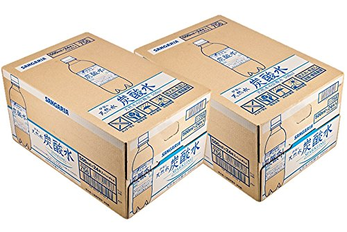 [2CS] サンガリア 伊賀の天然水 炭酸水( 500ml×24本)×2箱