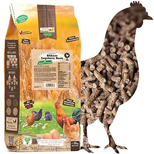 ChickenGold Hühnerfutter - 10kg Legekorn - ohne Gentechnik - Legefutter für Legehennen
