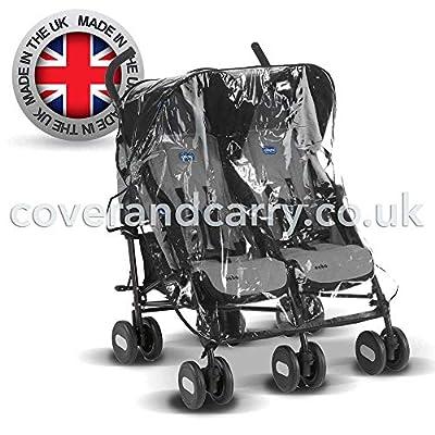 Protector de lluvia para silla de paseo Maclaren Twin Techno, fabricado en el Reino Unido con PVC transparente supersuave