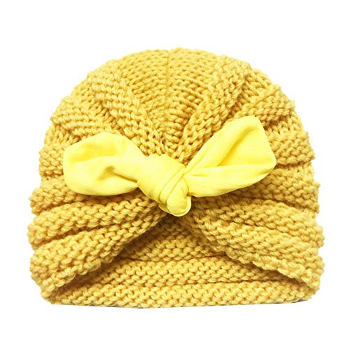 MIAOGOU Cartoon Chapeau Enfants Toddler Hat Baby Girls Boys Winter Warm Knitted Wool Hemming Hat Beanie Cap Keep Warm Set for 0-2 Year Kids Hat