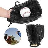 Pbzydu Guante Negro Engrosado, Guante de béisbol, niño Adolescente Adulto para Juegos de béisbol entrenando Jugadores de béisbol y softbol(Baseball Glove)