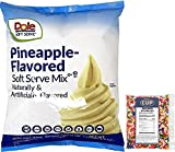 By The Cup Sprinkles and Soft Serve Bundle - Pineapple Dole Whip, 4.40 Pound Bag - with 4 Ounce bag Rainbow Sprinkles